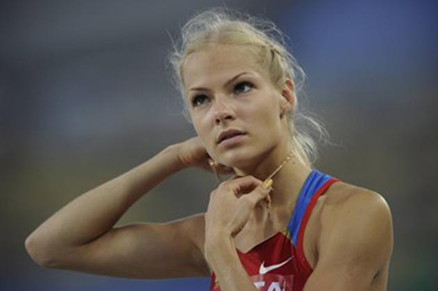 Darya Klishina runs track and field