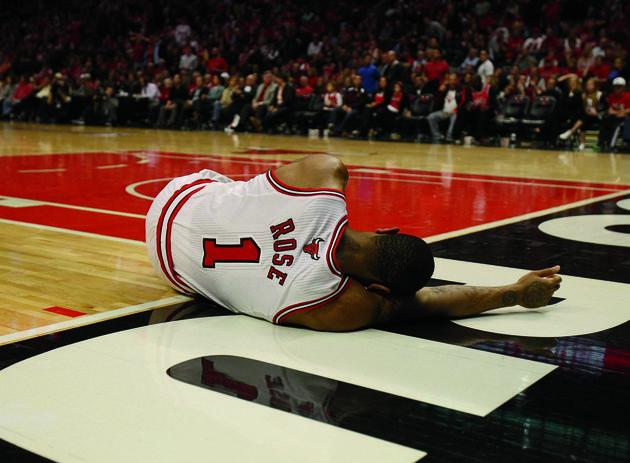 Chicago Bulls point guard Derrick Rose tore his ACL in April 2012