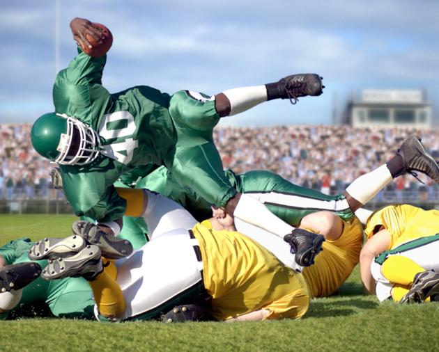Football Player Falling