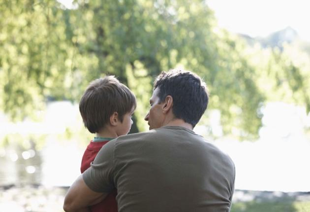 Man with Son at Park