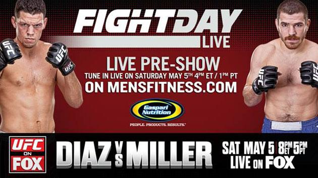 Nate Diaz vs. Jim Miller Fight Day Live