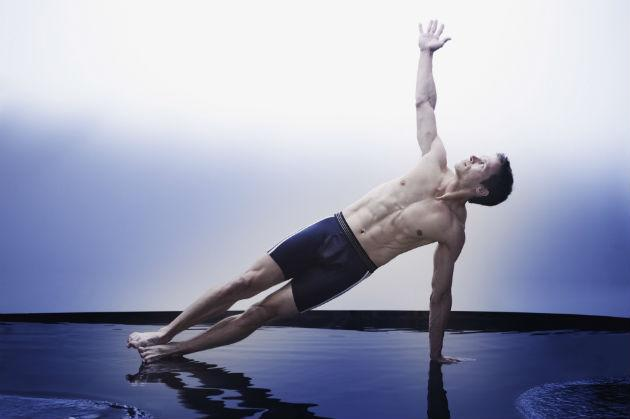 man doing yoga pose