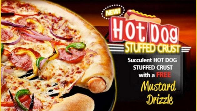 U.K. Debuts Hot Dog Stuffed Crust Pizza