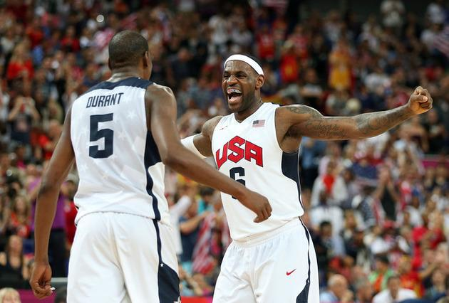 Basketball Stars Kevin Durant and LeBron James on US Olympic Team