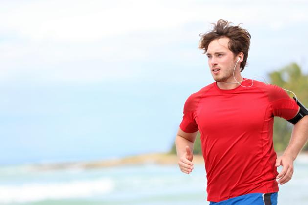 Man running with headphones
