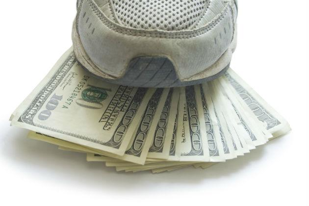sneaker and money