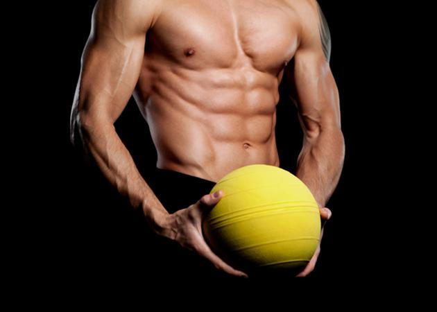 Man with Medicine Ball