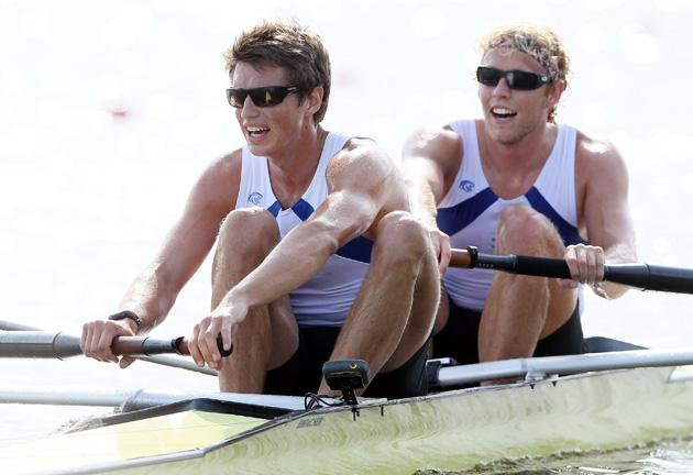 Team USA rowers Tom Peszek and Silas Stafford