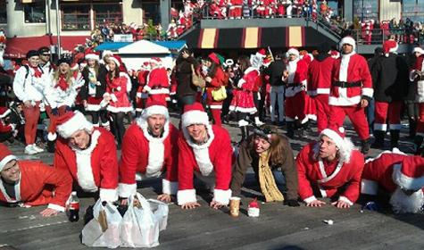 SantaCon Revelers Sweat Out the Beer and Cookies