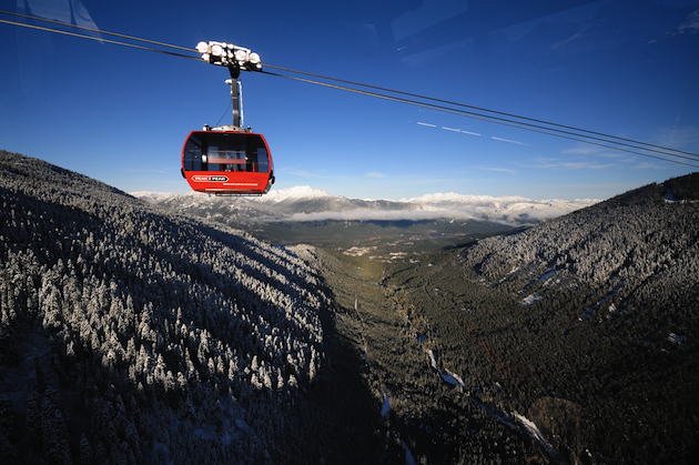 Gondola ride in the mountains