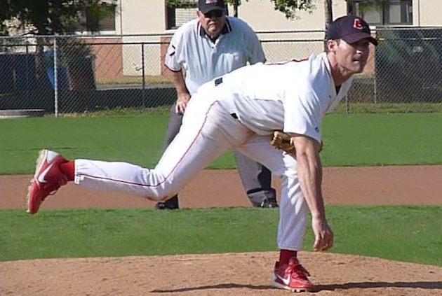 Kyle Clarke pitching