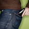 Man with wallet in back pocket