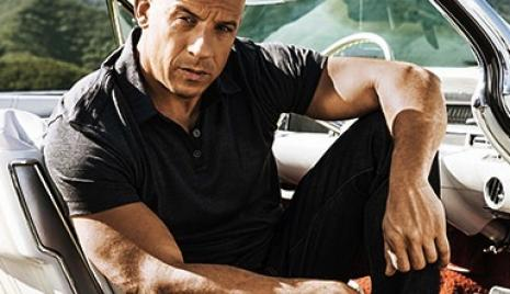 Vin Diesel in a car