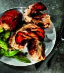Dish Up: Beer-steamed Lobster Tail with Avocado Slices