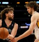 Marc Gasol plays against his brother Pau Gasol