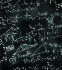 math formulas on chalkboard