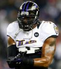 Baltimore Ravens linebacker Ray Lewis