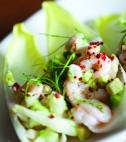 shrimp salad with endive