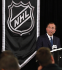 NHL Commissioner Gary Bettman announces the NHL lockout