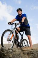 man on mountain bike