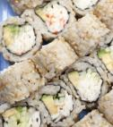 brown rice sushi roll