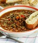 bowl of lentil stew