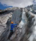 Ice Climb up a Glacier Iceland