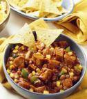 tofu chili with chips