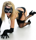 Woman in sexy cat costume