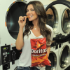 Ali Landry eating doritos
