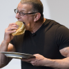 Robert Irvine eating