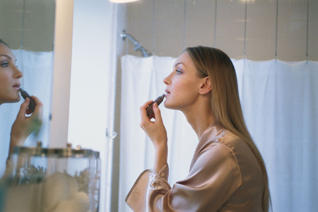 Woman Getting Ready for Date