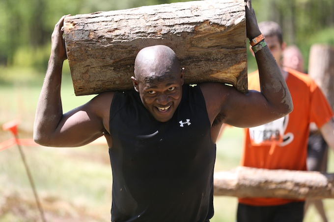 Tough Mudder Log Carrying Challenge