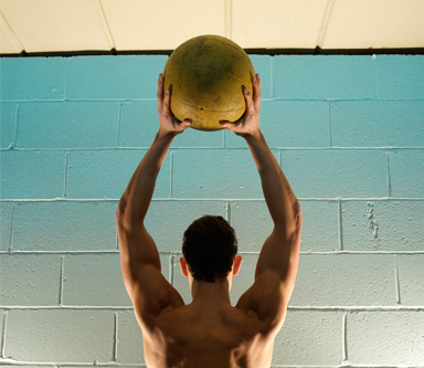 Body-Weight Workout: The Med-Ball Ab Circuit