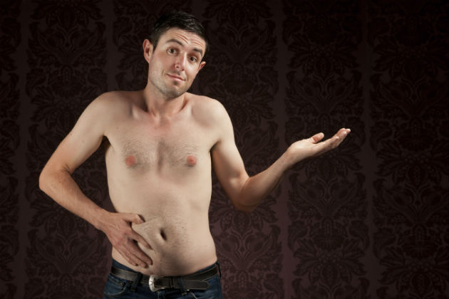 """Mens Body Writing Porn - thin young man with belly. """""""
