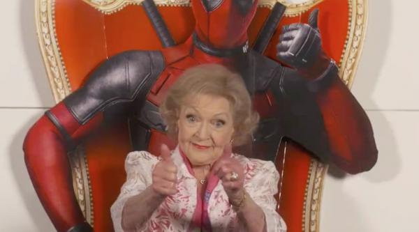 Betty White reviews 'Deadpool.'