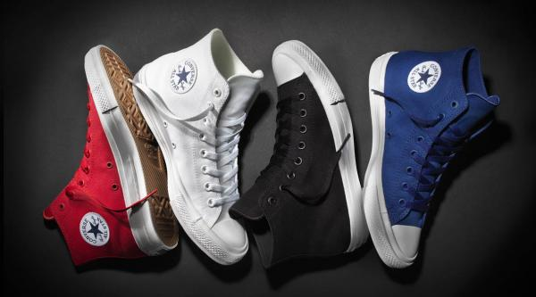 The Chuck Taylor All Star II debuts in red, blue, white and black colorways
