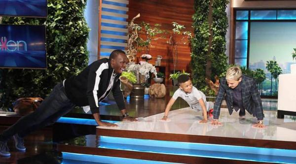 "Usain Bolt and DemarJay on ""The Ellen Show"""