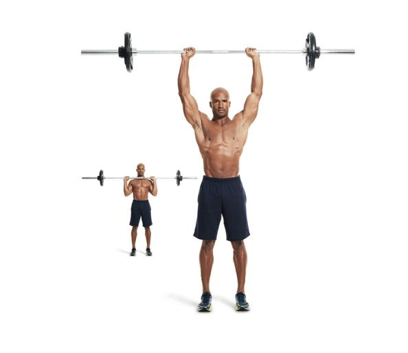 Upper body workout for muscle growth