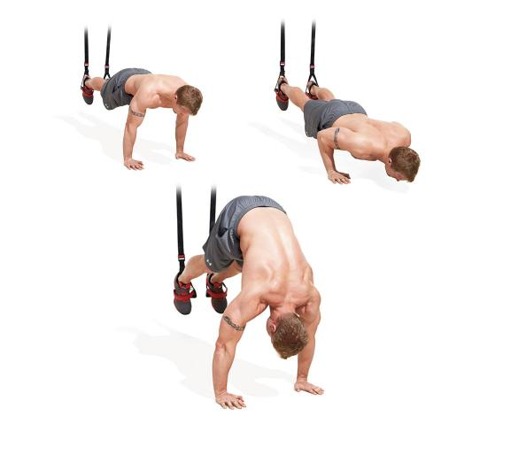 Suspension Trainer Pike Pushup