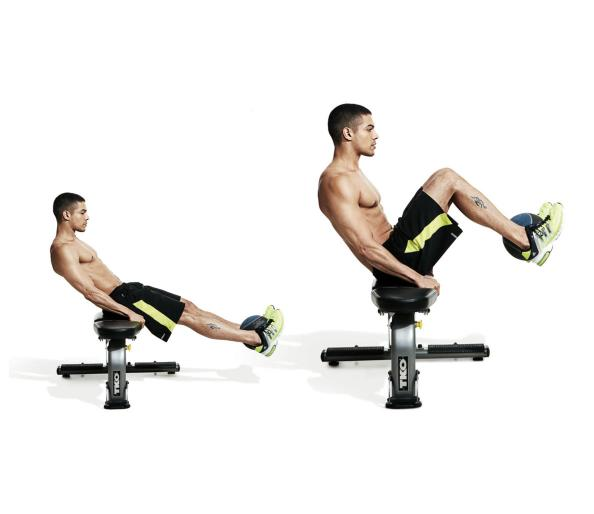 Best Ab Exercises to Get a Six-Pack — Medicinal Ball Seated Knee ...