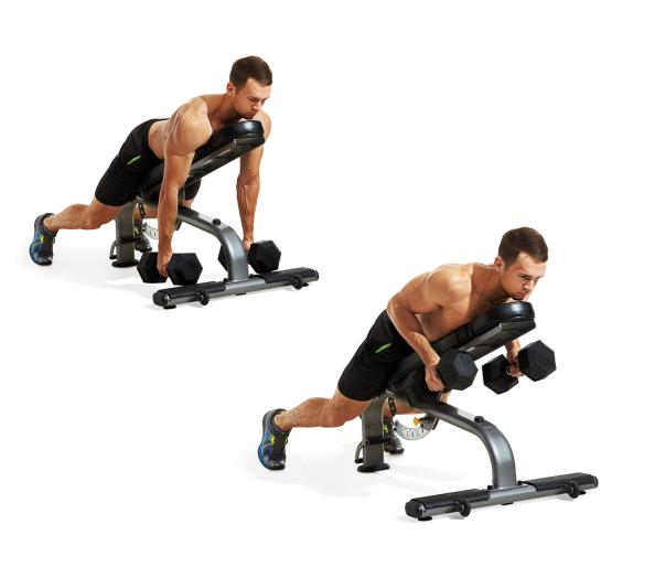 INCLINE DUMBBELL ROWIncline Dumbbell Row