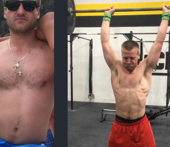 Crossfit men transformation