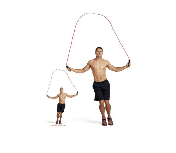 Jump rope cardio exercises for coordination