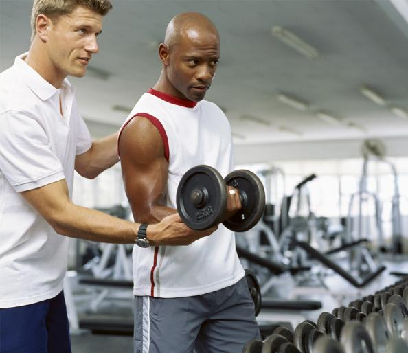 Gain strength with a personal trainer