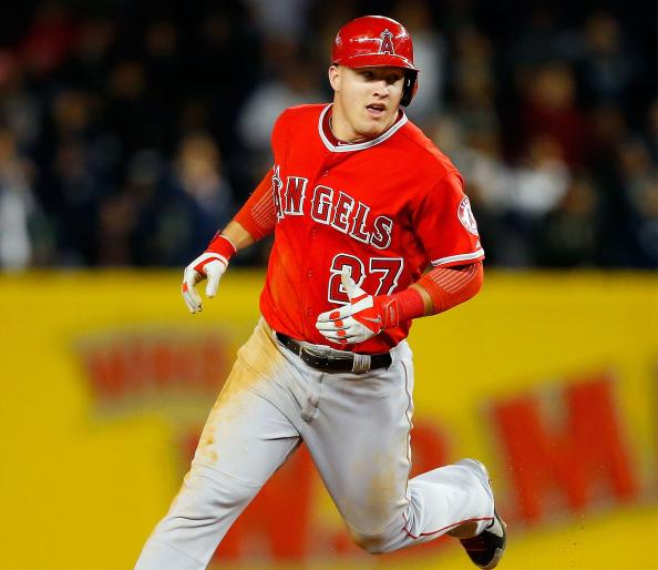 Mike Trout running