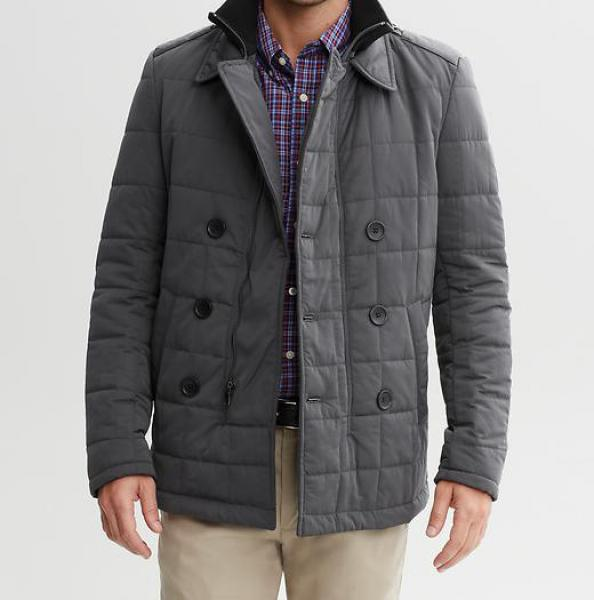 Front-zip coat featuring Sherpa-lined body with quilted nylon lining in sleeves Tommy Hilfiger Men's Arctic Cloth Full Length Quilted Snorkel Jacket by Tommy Hilfiger.