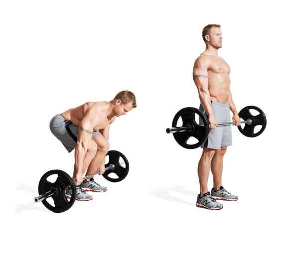 Deadlift with proper technique for injury prevention and muscle growth