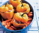 Stuffed Peppers with Braised Potatoes