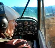 Doug Tompkins at the controls. Photo by Howard Quigley/Panthera